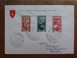 TRIESTE A - 5° Fiera Di Trieste Su Busta 1° Giorno Viaggiata - Con Annullo Arrivo + Spese Postali - 7. Trieste