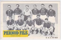 06 NICE O G C Nice Photo De L équipe De Football ,publicité Pernod ,carte Publicitaire - Nice