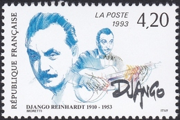 FRANCE, 1993, Django Reinhardt (Yvert 2810 ) - France