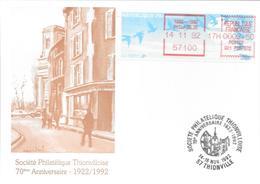 70ème ANNIVERSAIRE DE LA SOCIETE PHILATELIQUE DE THIONVILLE 1992 - Gedenkstempel