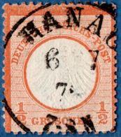 Hanau 6 7  Einkreis Auf ½ Gr,kleines Brustschild 1872, Germany 1812.3008 - Oblitérés