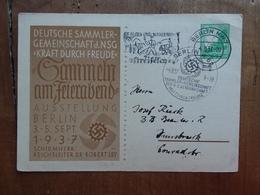 GERMANIA III REICH - Cartolina Postale Commemorativa Con Annullo Speciale + Spese Postali - Deutschland