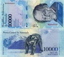 VENEZUELA       10,000 Bolívares       P-98b       13.12.2017       UNC  [ 10000 ] - Venezuela