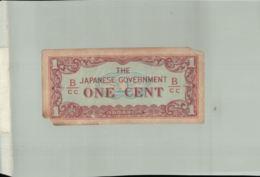 Billet De Banque JAPON (OCCUPATION 1940-45) ONE CENT   DEC 2019 Gerar - Japon