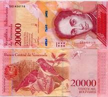 VENEZUELA       20,000 Bolívares       P-99c       13.12.2017       UNC  [ 20000 ] - Venezuela