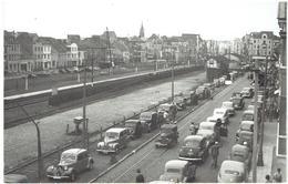 KNOKKE- HEIST ? - Foto Met Zicht Op Station ? - Oldtimers - Stempel M. Maelstaf, Graaf D'Ursellaan 40 Knokke Heist - Knokke