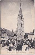 76. LILLEBONNE. Le Marché Et L'Eglise. 24 - Lillebonne