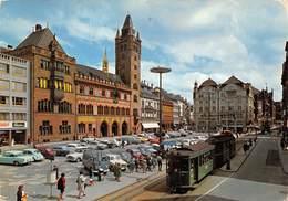 Suisse / Basel - Automobiles - Tramway - Markplatz Und Rathaus - Verlag Beringer & Pampaluchi - BS Basle-Town