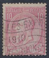 """émission 1884 - N°46 Annulé Par Flamme """"Bruxelles Exposition 1910"""" - 1884-1891 Leopold II."""