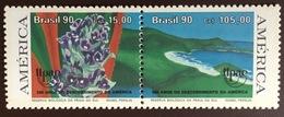 Brazil 1990 Columbus Discovery Of America Nature Reserve Flowers MNH - Brazilië