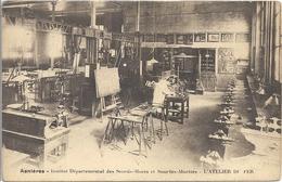 CPA Asnières Institut Départemental Des Sourds-Muets Et Sourdes-Muettes L'Atelier Du Fer - Asnieres Sur Seine