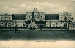 """Leuven La Gare Et """"le"""" Statue Van De Weyer  Ed H Et N  à A 702 - Leuven"""