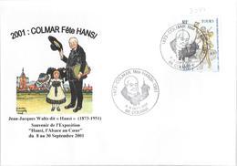 COLMAR FETE HANSI 2001 - Marcophilie (Lettres)