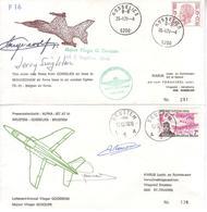 Lot De Deux Enveloppes - Vol En Alpha Jet Ou F16 - Timbres N° 1782 Et 1646 - 1971-80