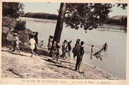 CPA - N - ISERE - PEAGE DE ROUSSILLON - LES BORDS DU RHONE - LA BAIGNADE - Francia