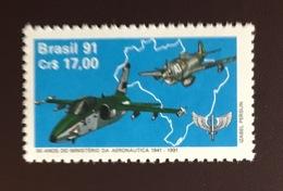 Brazil 1991 Aeronautics Ministry Aircraft  MNH - Brazilië