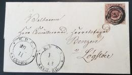 1851 4RBS Thiele SNOW STORM? TWO ! DIFF. AALBORG Cds 29.11 & 1.12 Cover > Løgstør (Denmark Dänemark Zwiebeln Onion Brief - 1851-63 (Frederik VII)