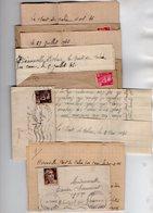 VP16.521 - 4 Lettres De Suzanne Et Georges POLICE à HERONVILLE Pont De Calix Par CAEN - Récit - Manuscripts