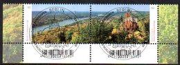 """Deutschland Mi. 3510-11 """"Deutschlands Schönste Panoramen: Bonn/Siebengebirge"""" ESST - Usati"""