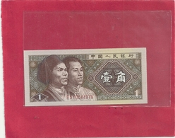 CHINA . PEOPLES REPUBLIC . 1 JIAO . 1980 . N° E5Y0544910 . 2 SCANES - Chine