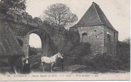 CPA LANMEUR - ANCIEN MANOIR DE HELLES - PORTE FORTIFIEE - Frankrijk