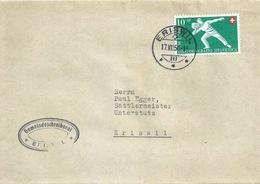 """Motiv Brief  """"Gemeindeschreiberei Eriswil""""          1950 - Cartas"""