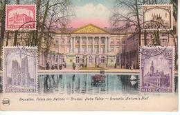 Carte Maximum 267 268 271 272 Sur Carte Illustrée Bruxelles - Pas Courant - Maximum Cards