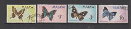 Malawi 247-50 1966 Butterflies, Used - Butterflies