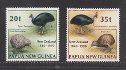 Papua New Guinea, 1990, Kiwi, Emu, Set Of 2v, MNH** - Kiwi