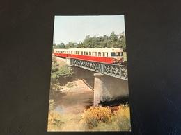 Un Autorail De 825 Ch. Et Sa Remorque Près De CABANOLS (Ligne Brive Severac) - Eisenbahnen