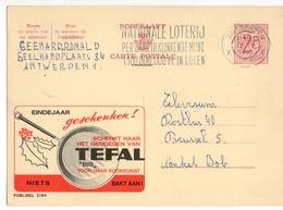 Publibel - 2184 - TEFAL - FLAMME NATIONAL LOTERIJ - ANTWERPEN - 1967. - Publibels