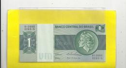 BANCO CENTRAL DO BRASIL . UM CRUZEIRO . 1970-72 . GREEN . N° B12660 - 026315  . 2 SCANES - Brazil