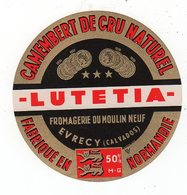 Dec19  14020   étiquette Camembert   Lutetia  Evrecy - Formaggio