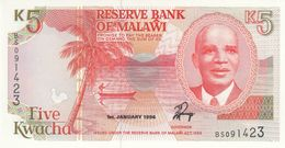 BILLET MALAWI 5 KWACHA - Malawi