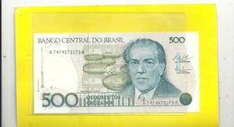 BANCO CENTRAL DO BRASIL .COMMEMORATIVE ISSUE  500  CRUZEIRO  . 1986 . N° A7474073173A  . 2 SCANES - Brazil