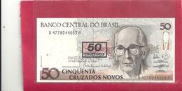 BANCO CENTRAL DO BRASIL . PROVISIONAL ISSUE  50  CRUZEIRO On 50 CRUZADOS NOVOS . 1991 . N° 4778044009A  . 2 SCANES - Brazil