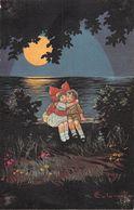 Couple - Baiser - Nuit - Lune . Mer - Autres Illustrateurs