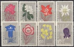 ROMANIA 1647-1654,unused,flowers - 1948-.... Repúblicas