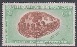 New Caledonia SG 460 1968 Sea Shells,60f Brown And Green, Used - Marine Life