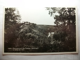 Carte Postale Rochefort En Terre (56) La Vallée De L'Arz ( Petit Format Noir Et Blanc Circulée ) - Rochefort En Terre