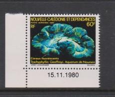 New Caledonia SG 646 1980 Noumea Aquarium 60 F Coral Trachyphyllia Geoffrai, MNH - Marine Life