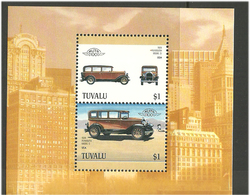 Tuvalu 1987 Cars, Plymouth Modell Q   1928 Model Mi Bloc 28 MNH(**) - Tuvalu