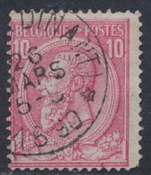 """émission 1884 - N°46 Obl Relais Partielle """"Celles (Dinant)"""" - 1884-1891 Leopold II."""