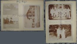 VIETNAM LONG XUYEN Photo C. 1890 Rue Du Pont Tribunal Procureur République Viet Nam Indochine Photographie XIX 19e Asie - Antiche (ante 1900)