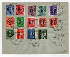 - Timbres LIBÉRATION - Lettre MONTREUIL-BELLAY 12.9.1944 - Série 8 à 21 Mercure + Pétain - - Liberation
