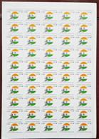 Myanmar Burma Mahatma Gandhi 50 Stamps Full Sheet MNH 2019 - Mahatma Gandhi