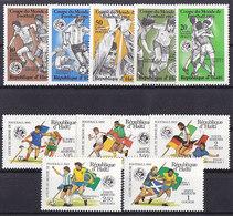 Soccer World Cup 1982 - Football - HAITI - LOT 10v MNH - Copa Mundial