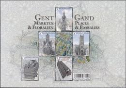 BELGIQUE, 2016, Gand, Places Et Floralies (COB BL234). - Bloques 1962-....