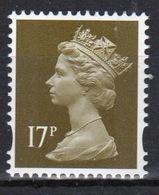 Great Britain Decimal Machin 17p Définitive Stamp. - 1952-.... (Elizabeth II)