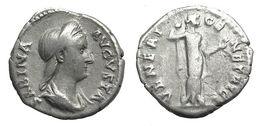 [H] +++ AR Denarius - SABINA  -- RIC 396 -- Venus Reverse - Beautiful Portrait +++ - 3. Die Antoninische Dynastie (96 / 192)